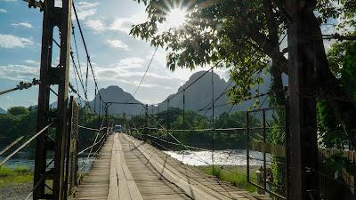 Nam Song bridge in Vang Vieng