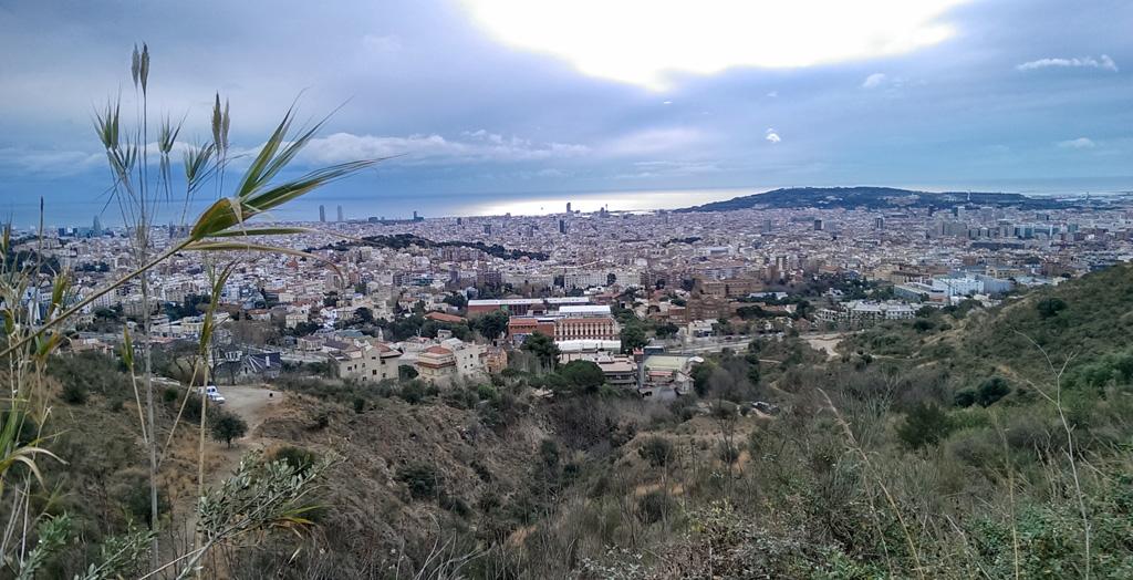 Barcelona des de la carretera de les Aigües