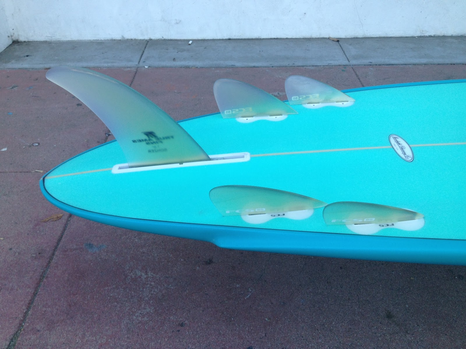 This Surfboard Is A 7 6 Campbell Bros 5 Fin Bonzer E Wing
