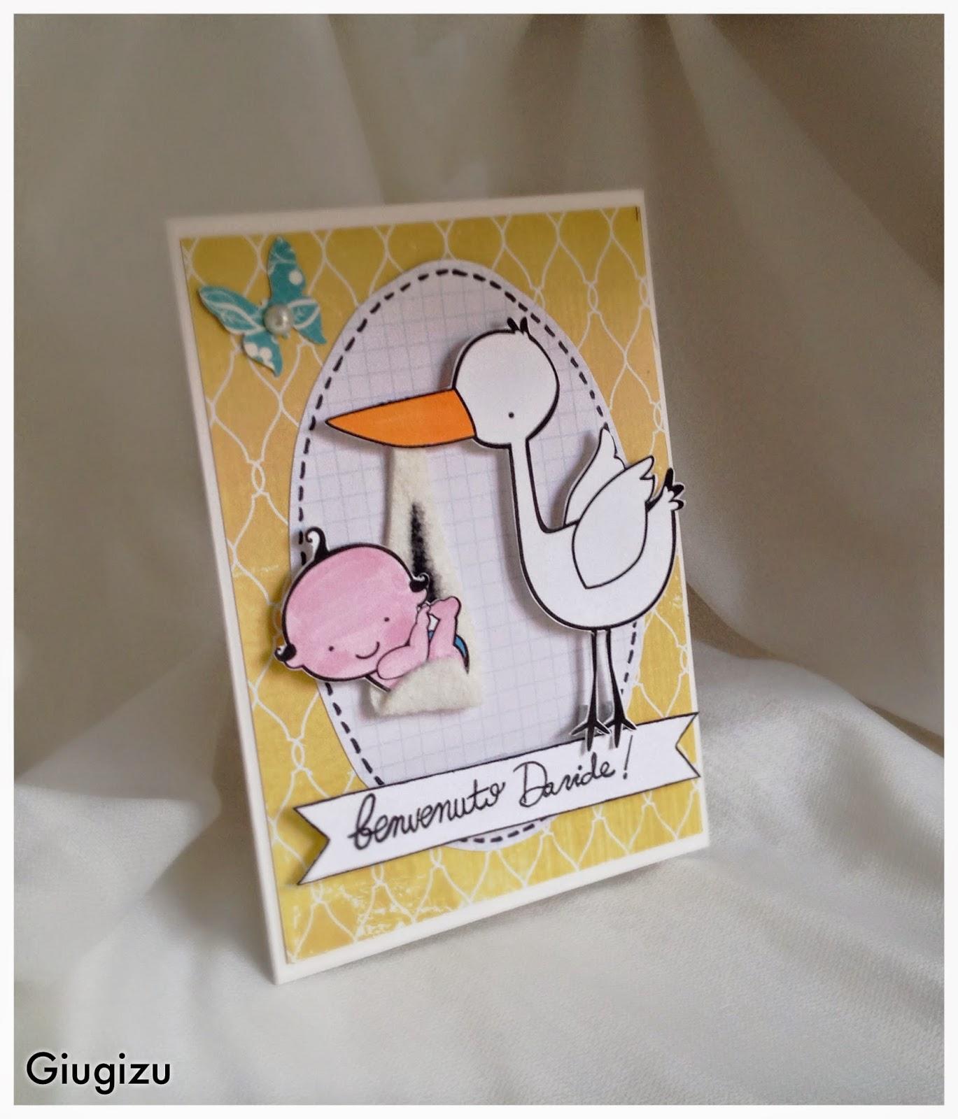 Top Giugizu's corner: D.I.Y. Welcome baby boy card + frame - Biglietto  BL73