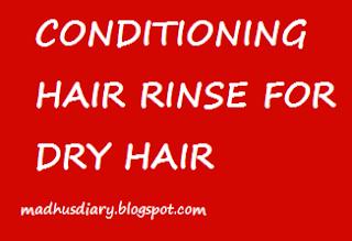 hai rinse for dry hair