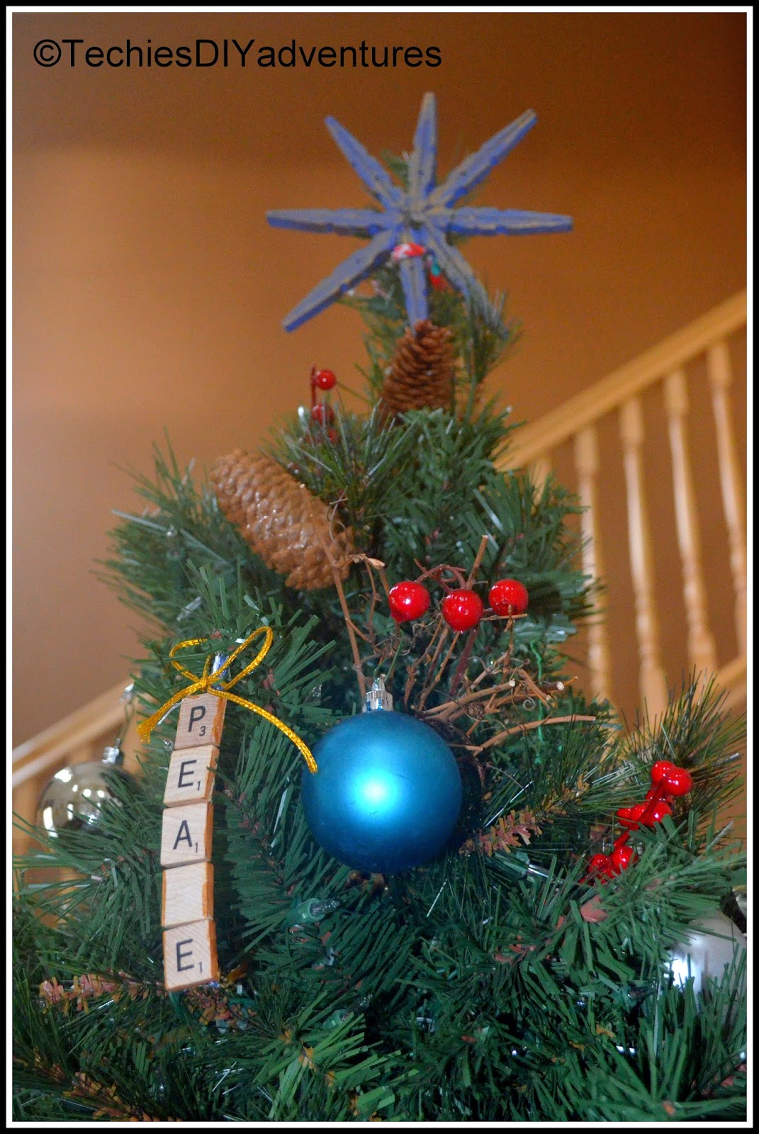 Clothes Pin Star Tree Topper