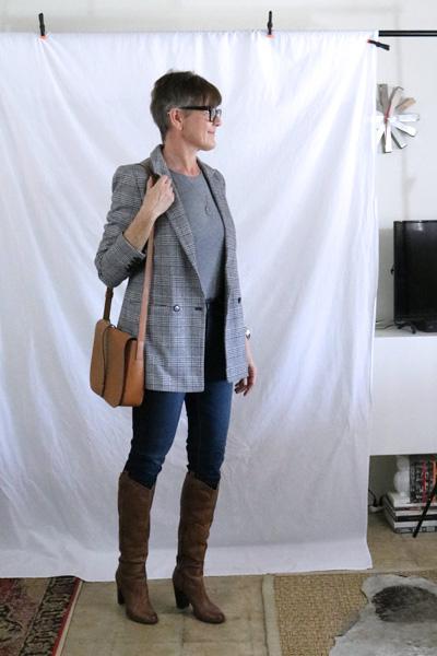 Plaid Mens Blazer Tall Boots