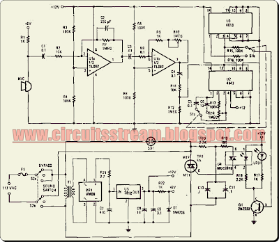 Simple Voice Switch on Circuit Diagram