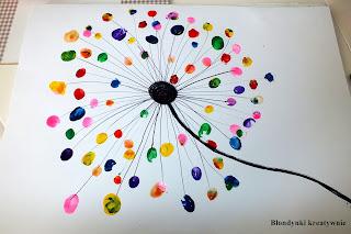Kolorowy dmuchawiec