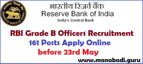 latest jobs, Reserve Bank of India, RBI Grade B Offcers Posts, RBI Jobs, Govt Jobs, Recruitment, Bank jobs, IBPS jobs