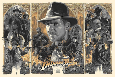 Indiana Jones Trilogy Variant Screen Print by Gabz x Bottleneck Gallery