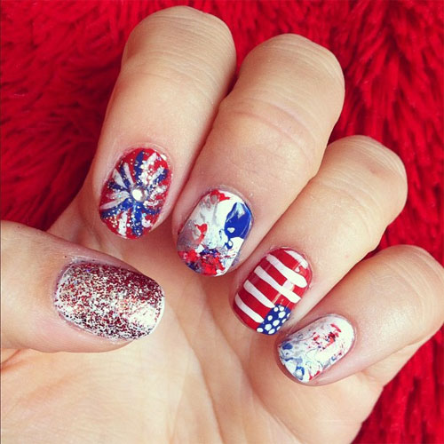 4th of july nail art designs 2017 fourth of july nail art 4th of july nail art designs 20172b prinsesfo Choice Image