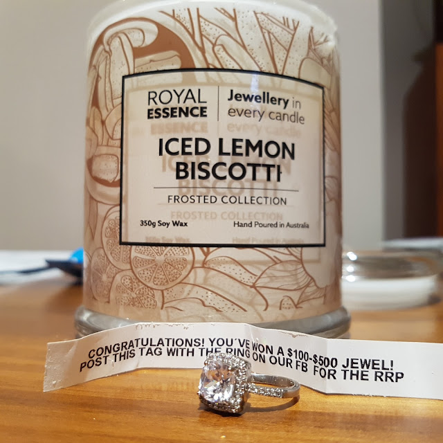 Royal Essence Ring Candle Iced Lemon Biscotti | Almost Posh