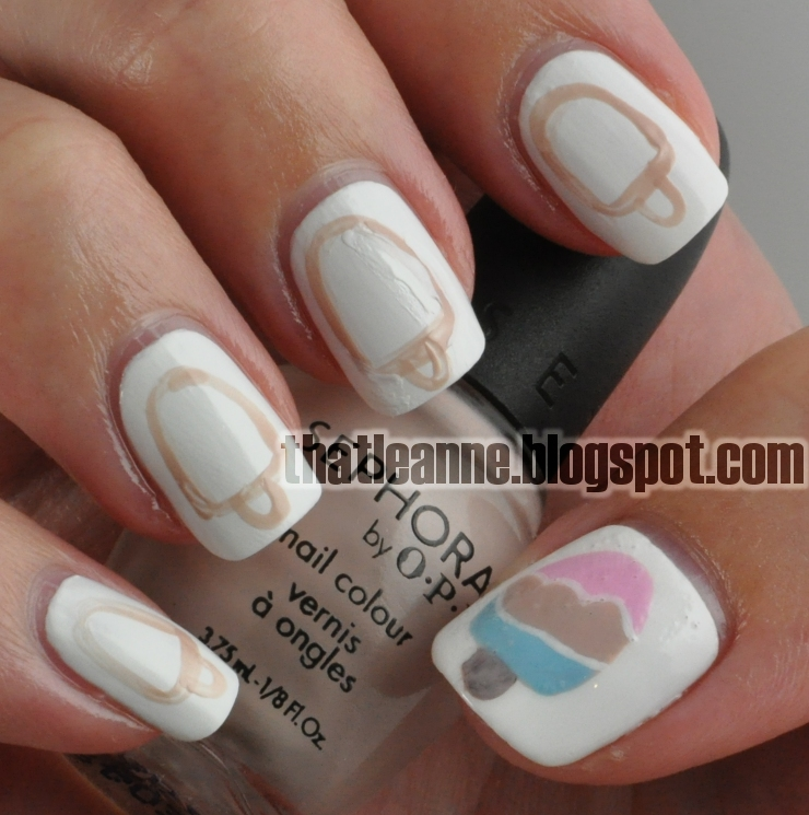 Cream Nail Art: Thatleanne: Kikki-K Inspired Ice Cream Nails