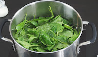 Blanching-the-spinach
