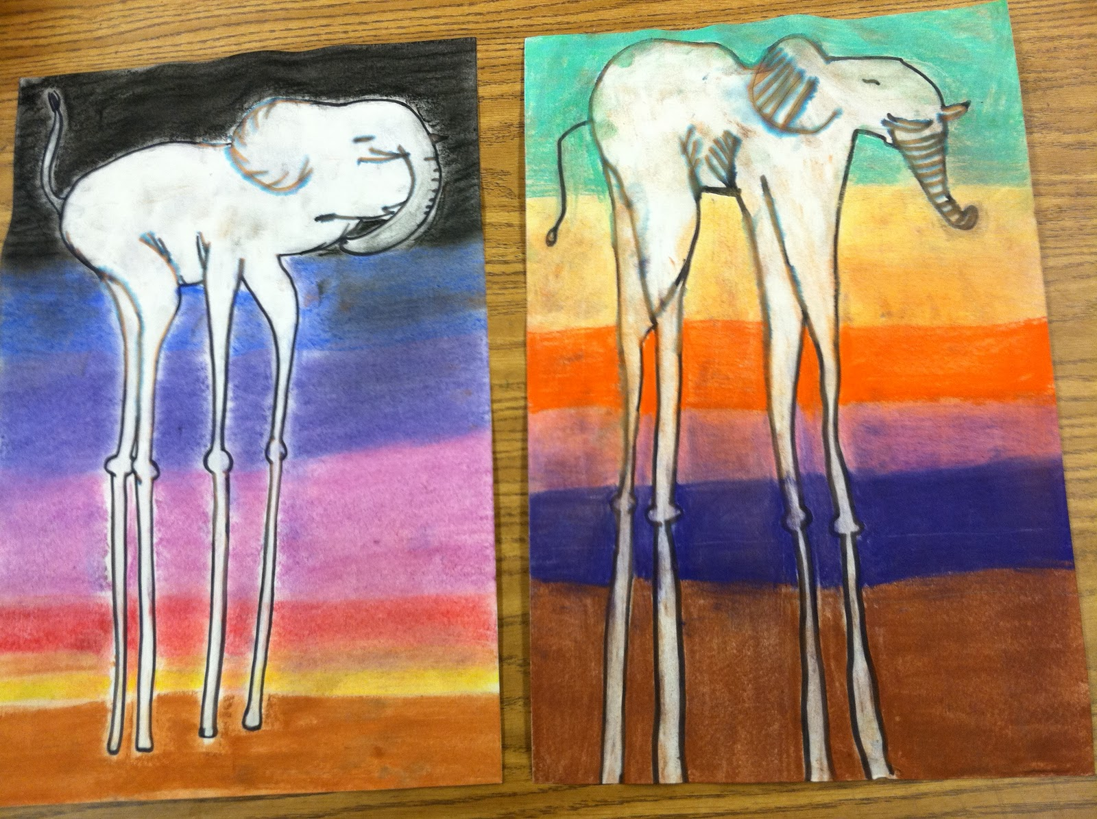 Color Is My Day Salvador Dali Inspired Elephants