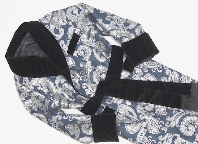 mens paisley silk dressing gown