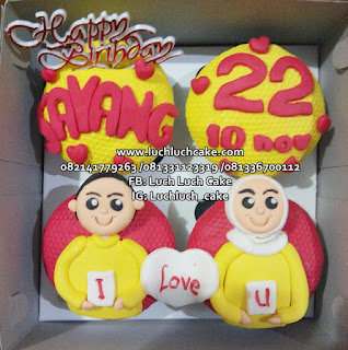 Cupcake Birthday Simpel Romantis