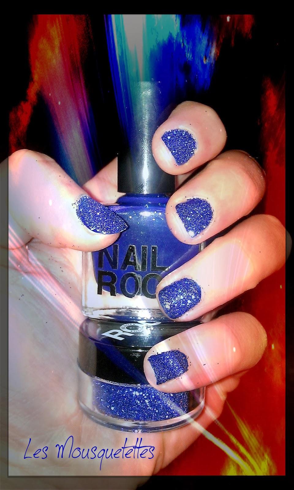 Vernis Nail Rock Glitter Blue paillettes - Les Mousquetettes©