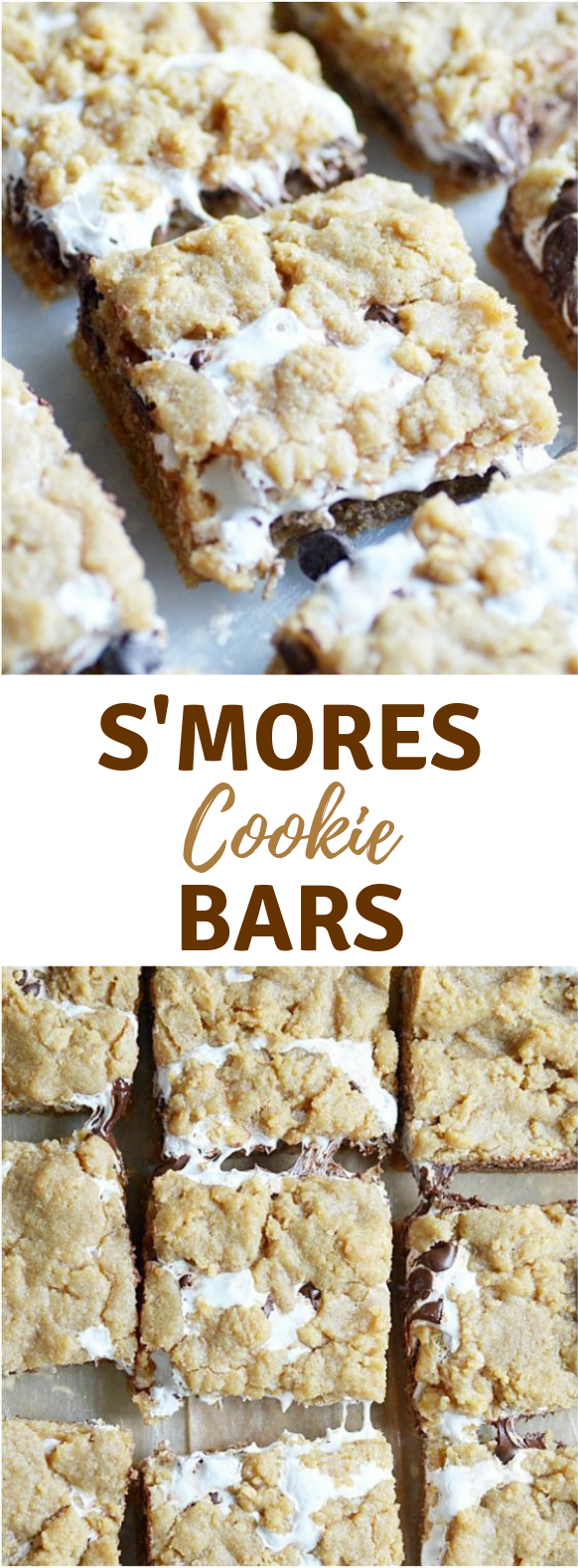 S'mores Cookie Bars #Cookie #Dessert