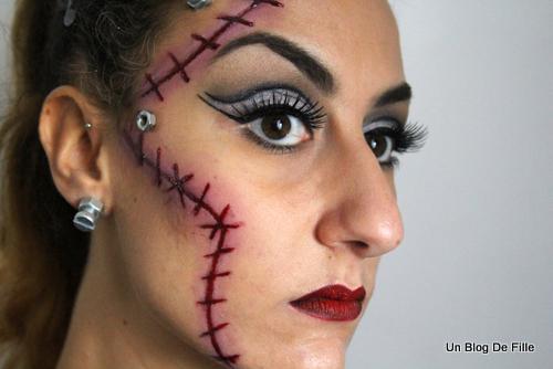 Un blog de fille halloween makeup robot et cicatrice avec tuto Maquillage de diablesse facile a faire