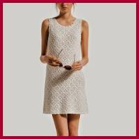Moderno vestido a crochet