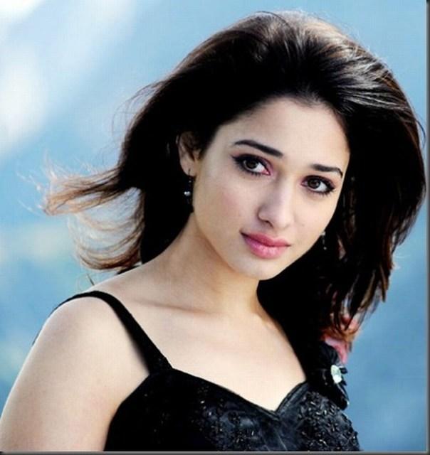Actress Tamanna bhatia photos In Black Dress