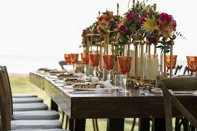 Mesa para boda en una finca