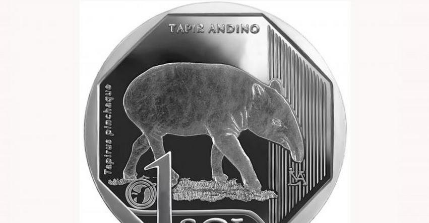 BCR pone en circulación nueva moneda de S/ 1 alusiva al tapir andino - www.bcrp.gob.pe