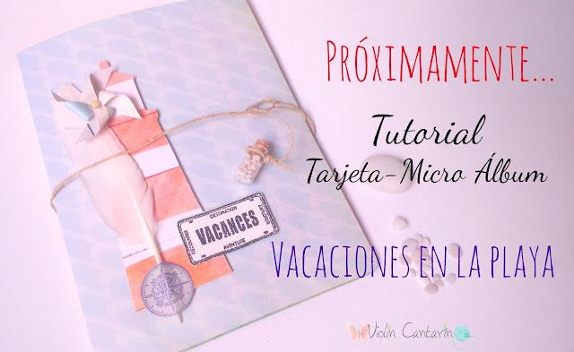 tutorial scrapbook, scrap, scrapbooking, DIY, handmade, tuto violín cantarín, violin cantarin