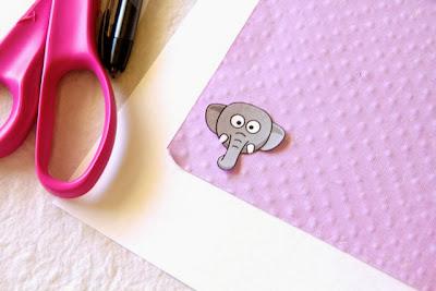 DIY Elephant Cupcake Toppers