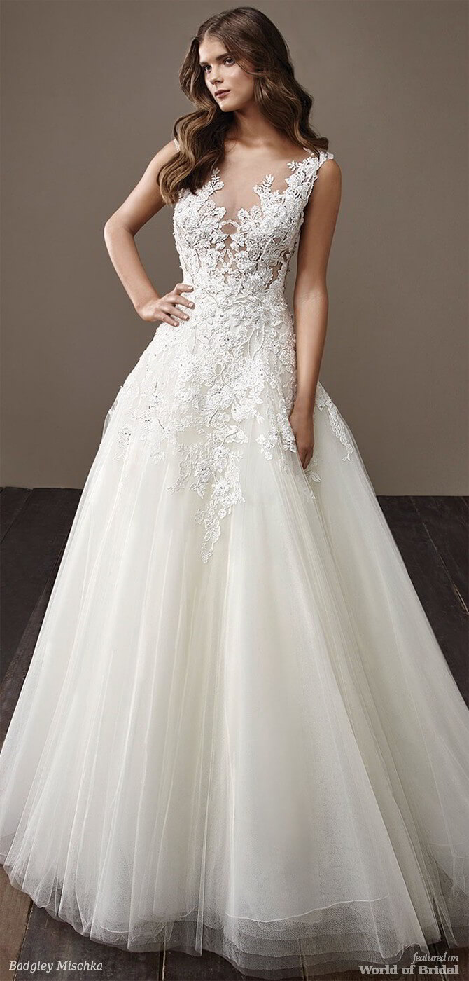 Badgley Mischka 2018 A-line bridal gown