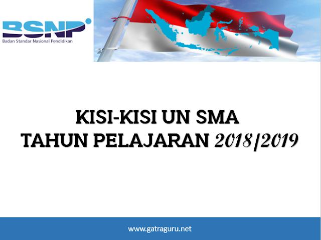 Kisi-Kisi UN SMA 2018/2019 Lengkap