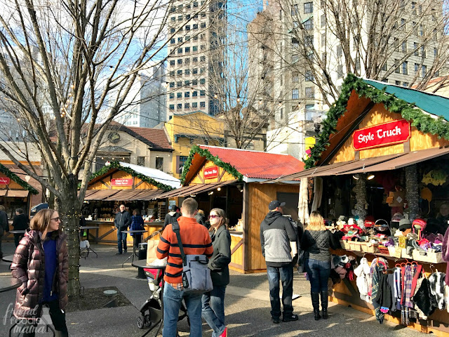 With over 30 vendors, you are sure to check everyone off of your holiday gift list at the German style Peoples Gas Holiday Market at Market Square in Pittsburgh.