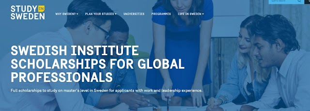 Full scholarships to study on master's level in Sweden for applicants with work and leadership experience at SWEDISH INSTITUTE SCHOLARSHIPS FOR GLOBAL PROFESSIONALS
