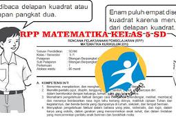 Download RPP Matematika Kurikulum 2013 Kelas 5 SD Revisi Semester 1 Lengkap