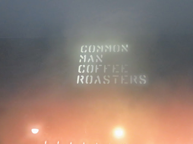 Common Man Coffee Roasters Sign Fogged Over by Humidity in Singapore