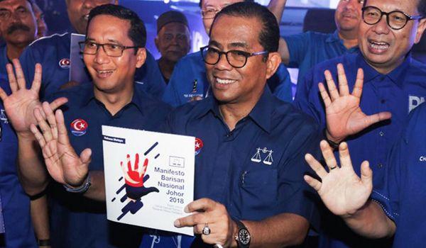 PRU14: Senarai Calon Barisan Nasional Negeri Johor