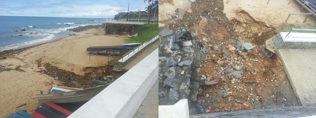 Construtora explica problema com o final da rampa da Praia de Santana