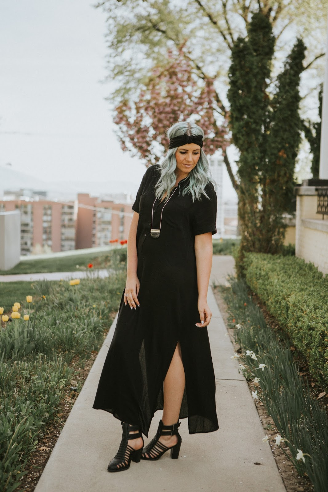 Black Dress, Utah Fashion Blogger, Goldies