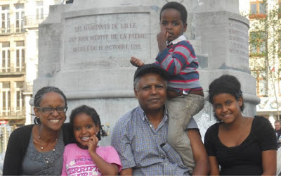 Andargachew 'Andy' Tsege and his family