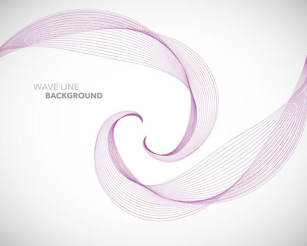 Wave line background design elements free vector download