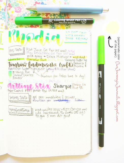 rhodia webnotebook a5 dot grid pen test page and review overview