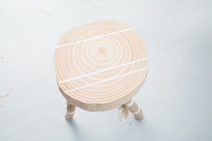 light timber stool