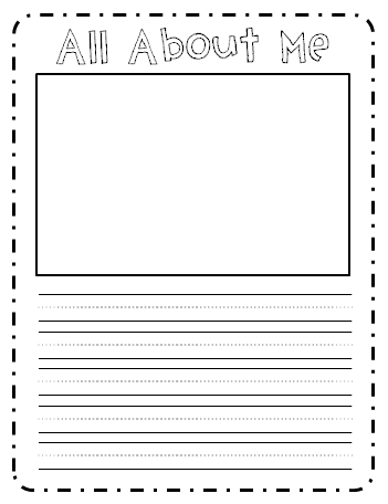First grade garden daily 5 and writer 39 s workshop freebies for About me template for students