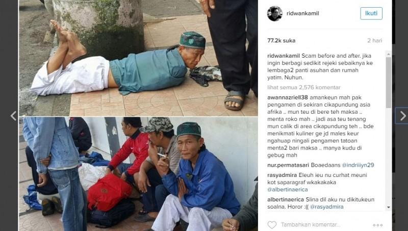 Pengemis di Bandung ya pura-pura buntung