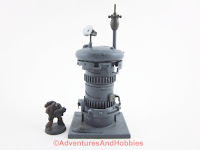 Communications tower for science fiction 15 to 28 mm scale miniature war game - UniversalTerrain.com