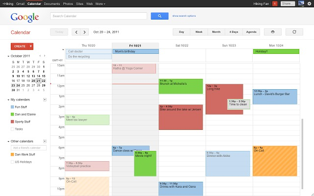 google calendar, put everything on calendar