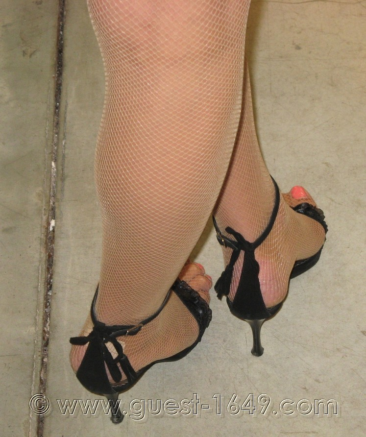 Light black high heels shoes