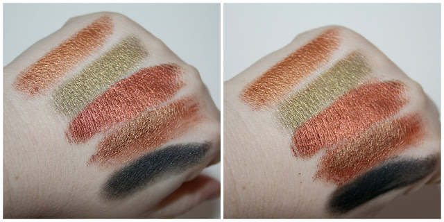 Revolution Foil Frenzy Creation Eyeshadow Palette Third Row Swatches