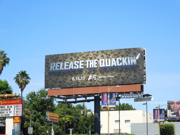 Release the Quackin Duck Dynasty season 4 teaser billboard