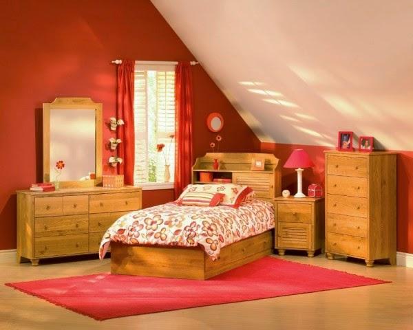 Dormitorios para chicas en color naranja dormitorios for Dormitorio naranja