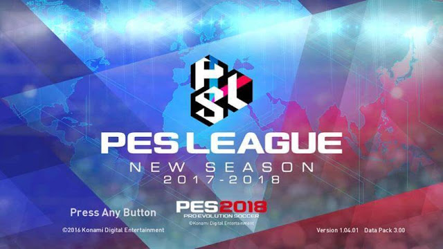 PES 2018 Start Screen for PES 2017