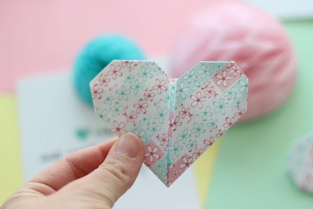 DIY: Corazones de origami y washi tape